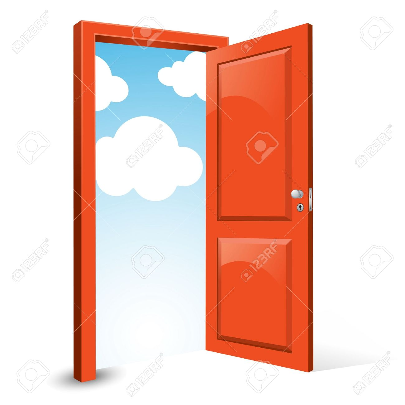 Front door clipart - Opened Door To The Sky Clipart Front Door Clipart