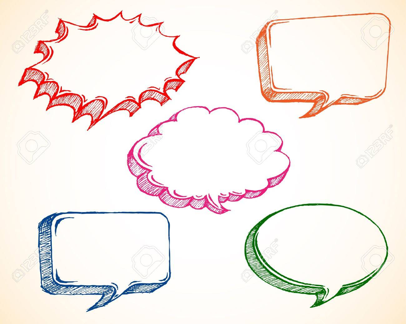 Sketchy Speech Bubble Stock Vector - 9155661