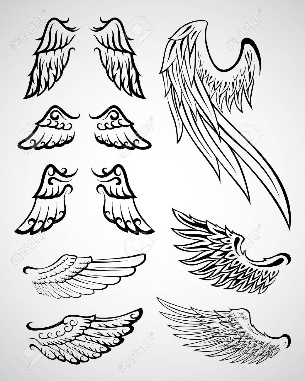 Wings Collection Stock Vector - 9155663