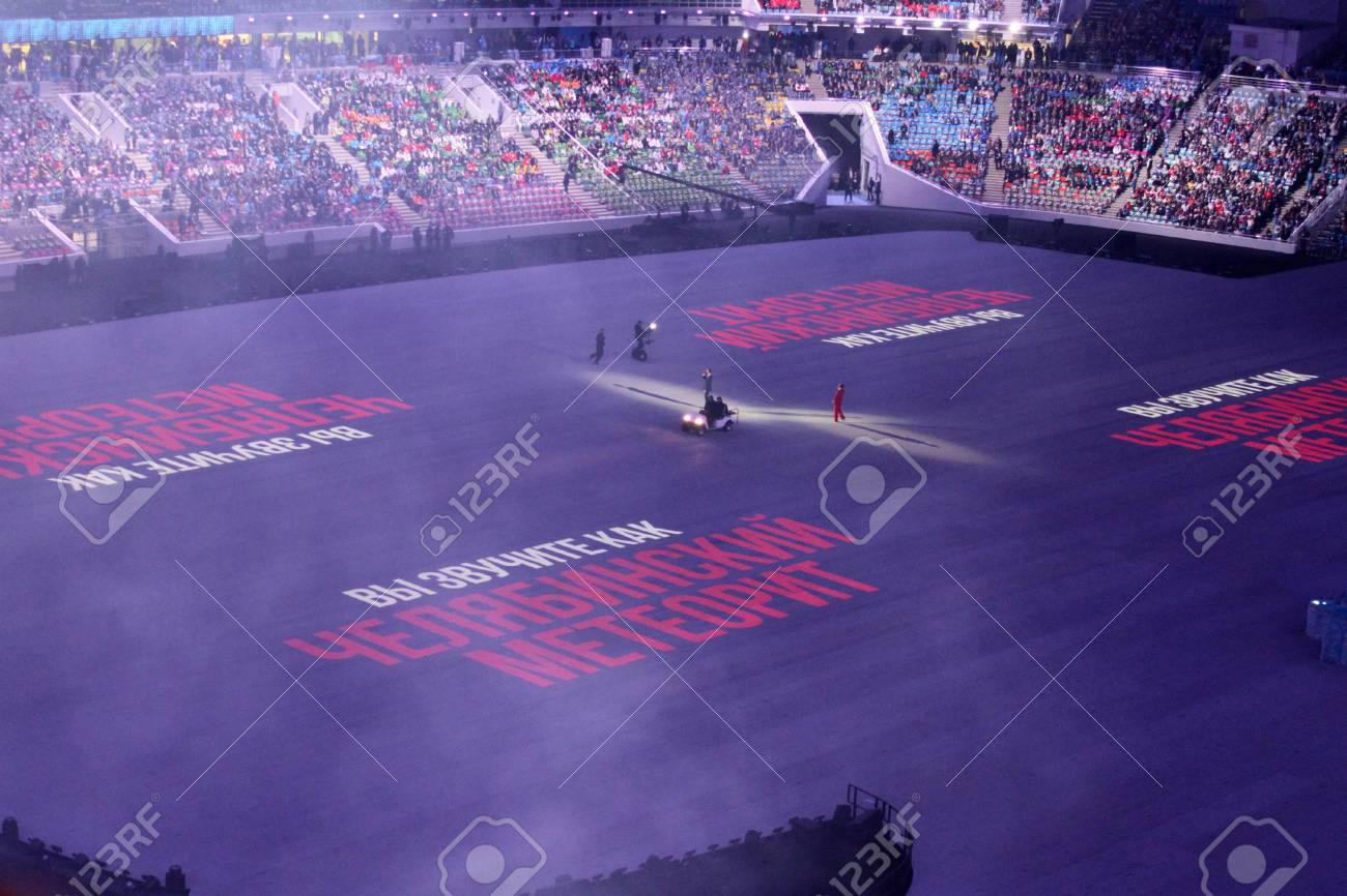 Sochi Russland 7 Februar 2014 Das Konzert Vor Der