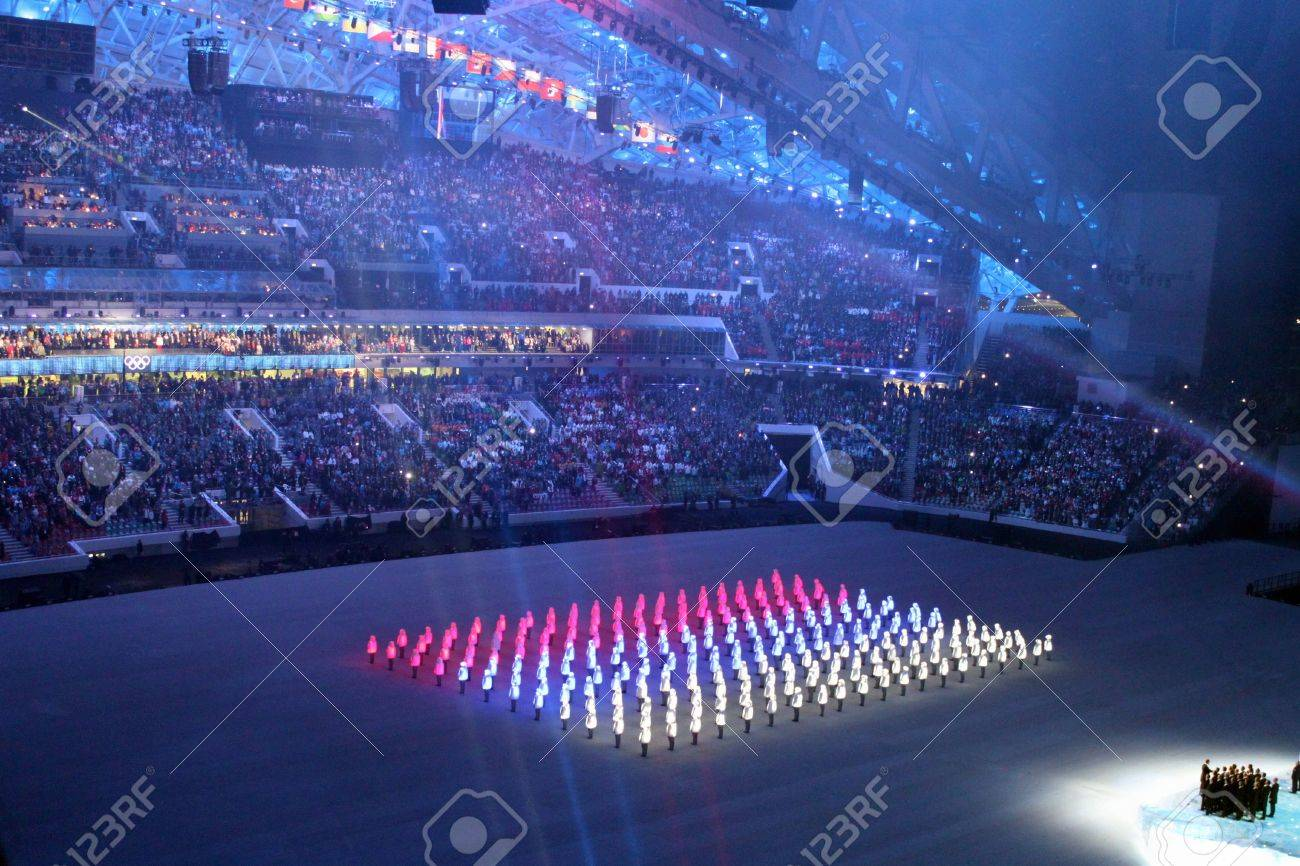 Sochi Russland 7 Februar 2014 Eröffnungsfeier Der Xxii