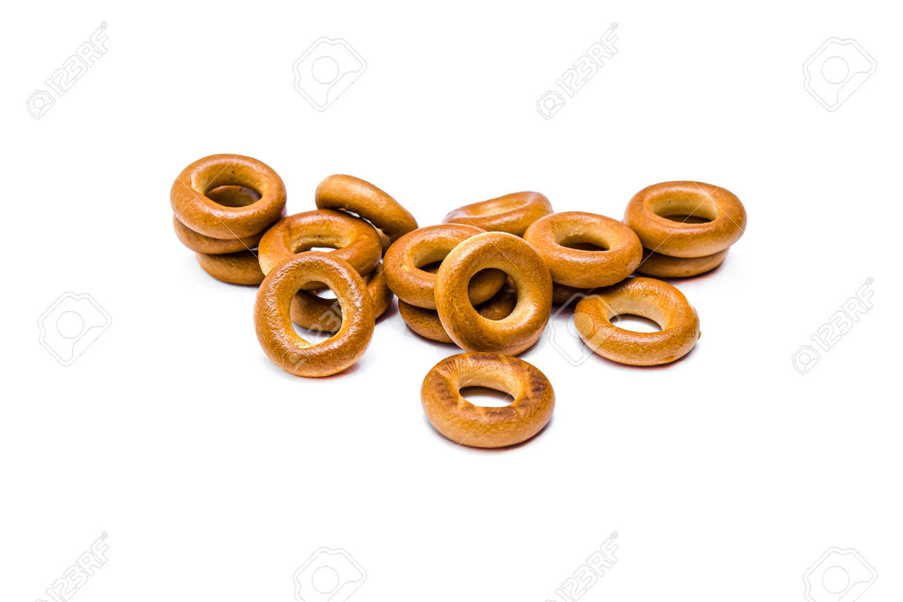 Bagels confectionery on a white background - 155768678