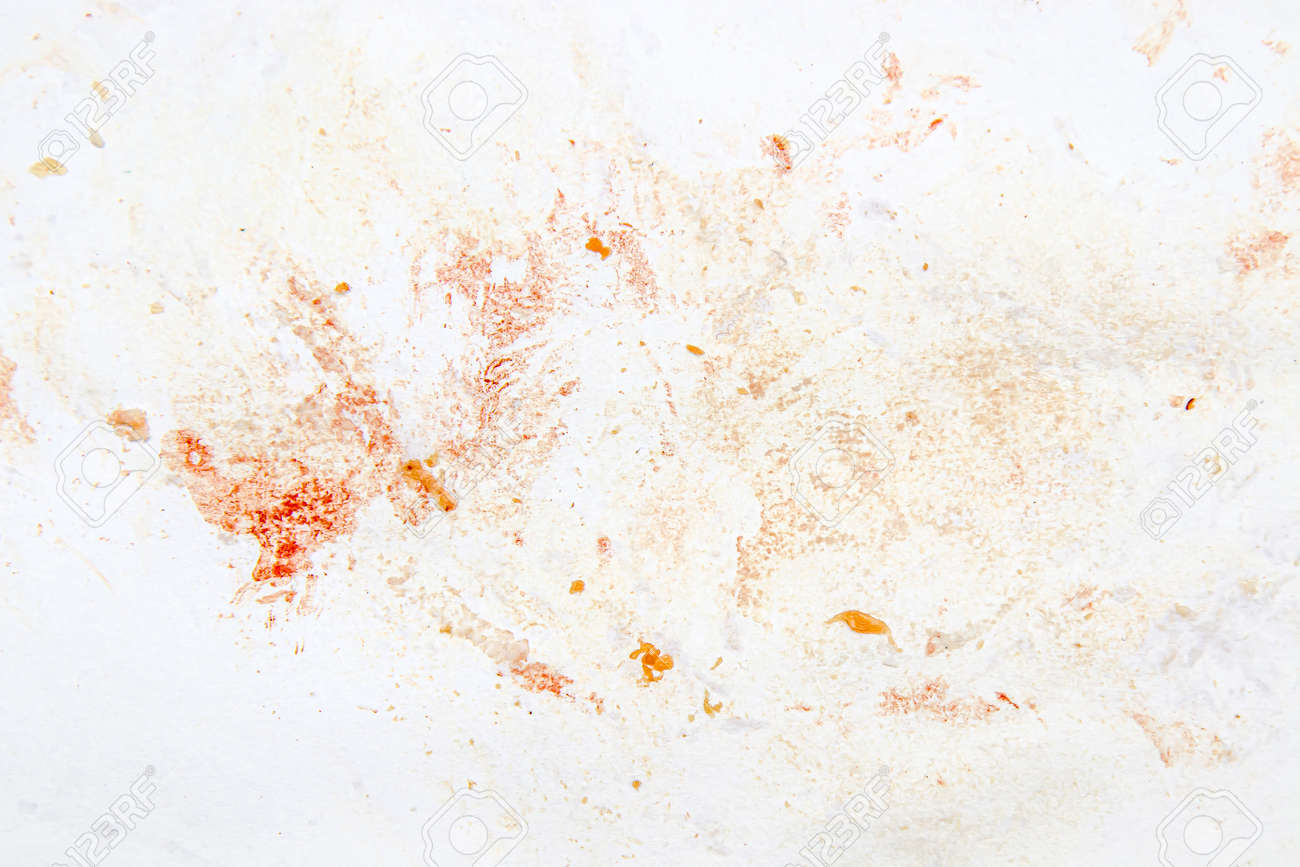 Paper in blood after cutting meat as a background. - 155768681