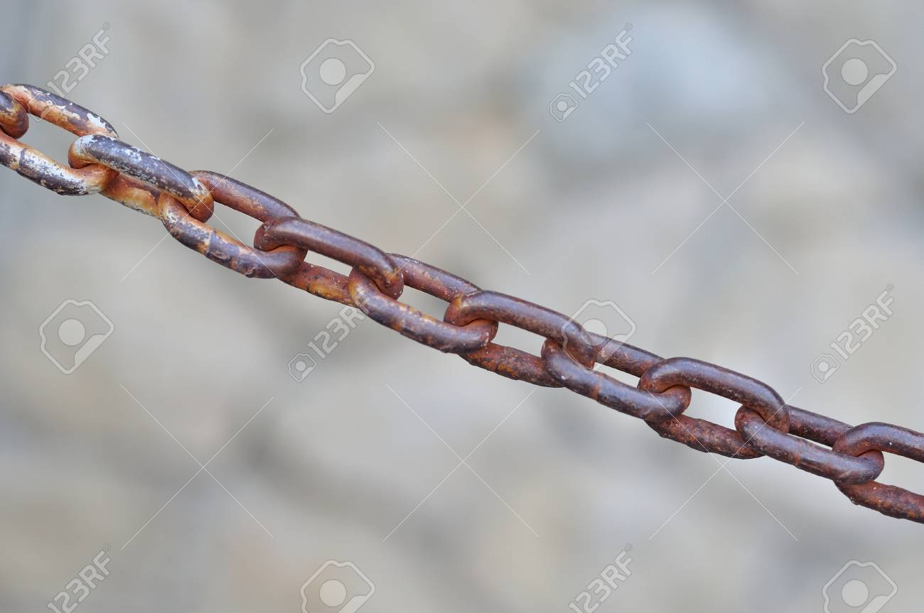 Close up of old rusty metal chain Stock Photo - 21488546