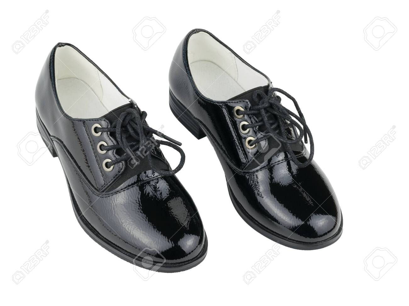 black leather school shoes womens