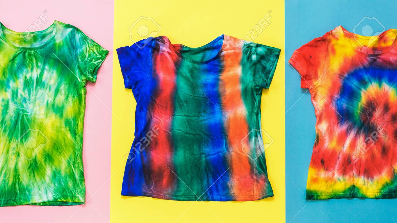 red yellow and blue background with tie dye t shirts white stock photo picture and royalty free image image 149465657 red yellow and blue background with tie dye t shirts white