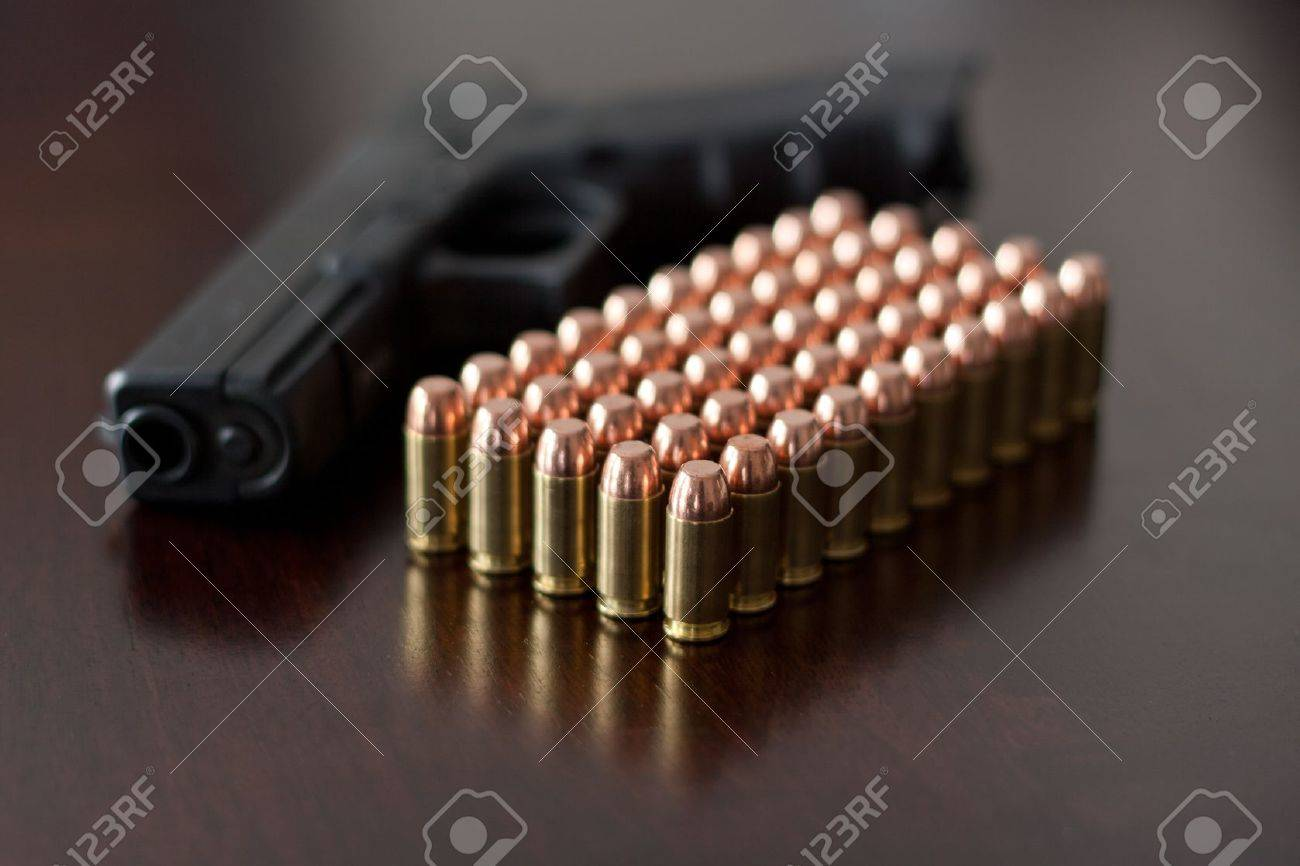 Glock 22 with 40 cal. Ammunition Stock Photo - 12086573