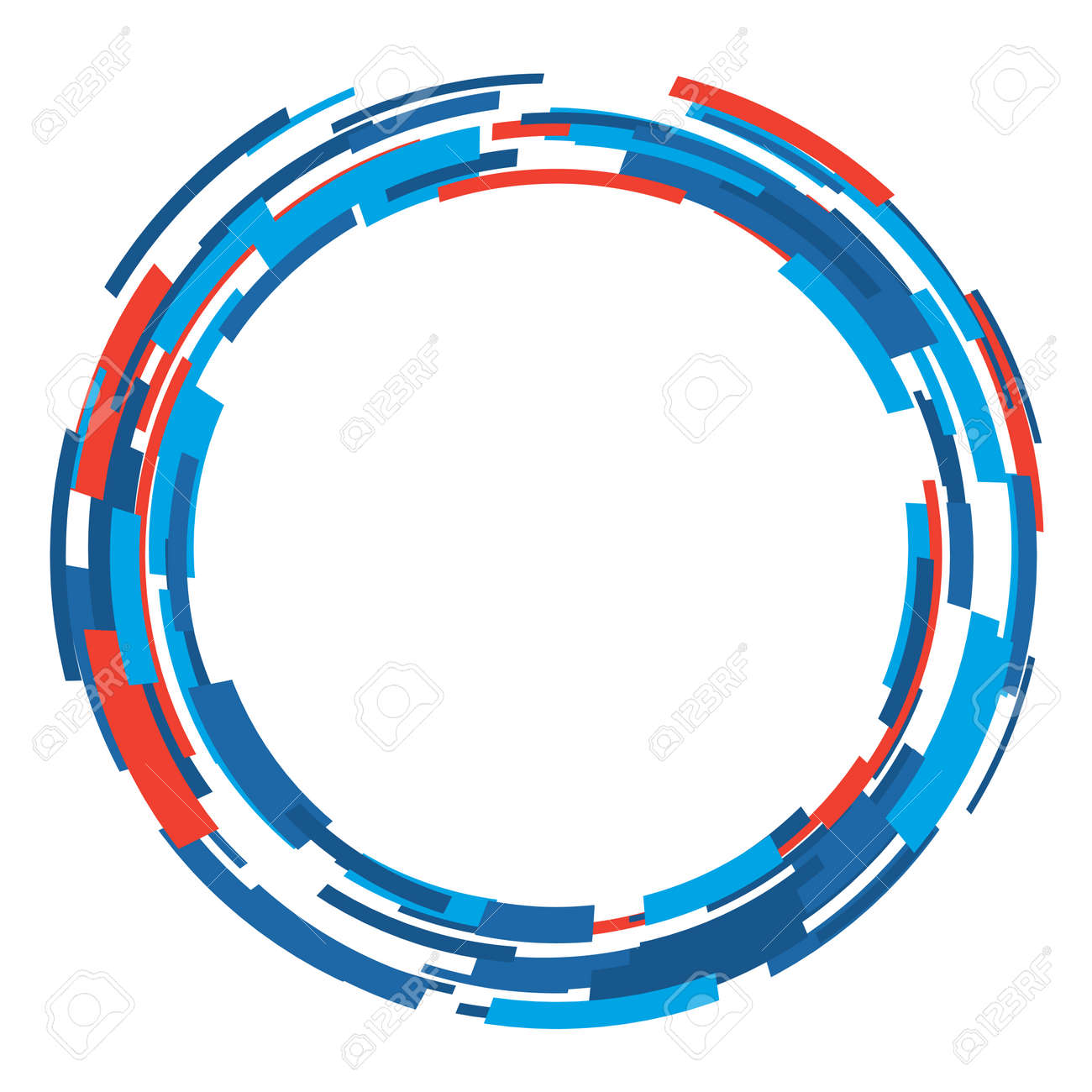 Vector abstract circle shape layout design template. Modern background art style. - 145510130