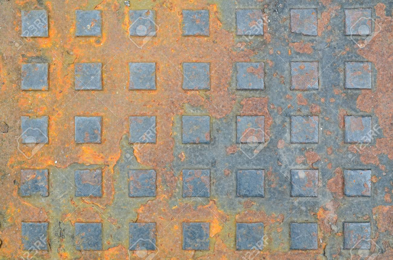 rusty square metal background Stock Photo - 22170028