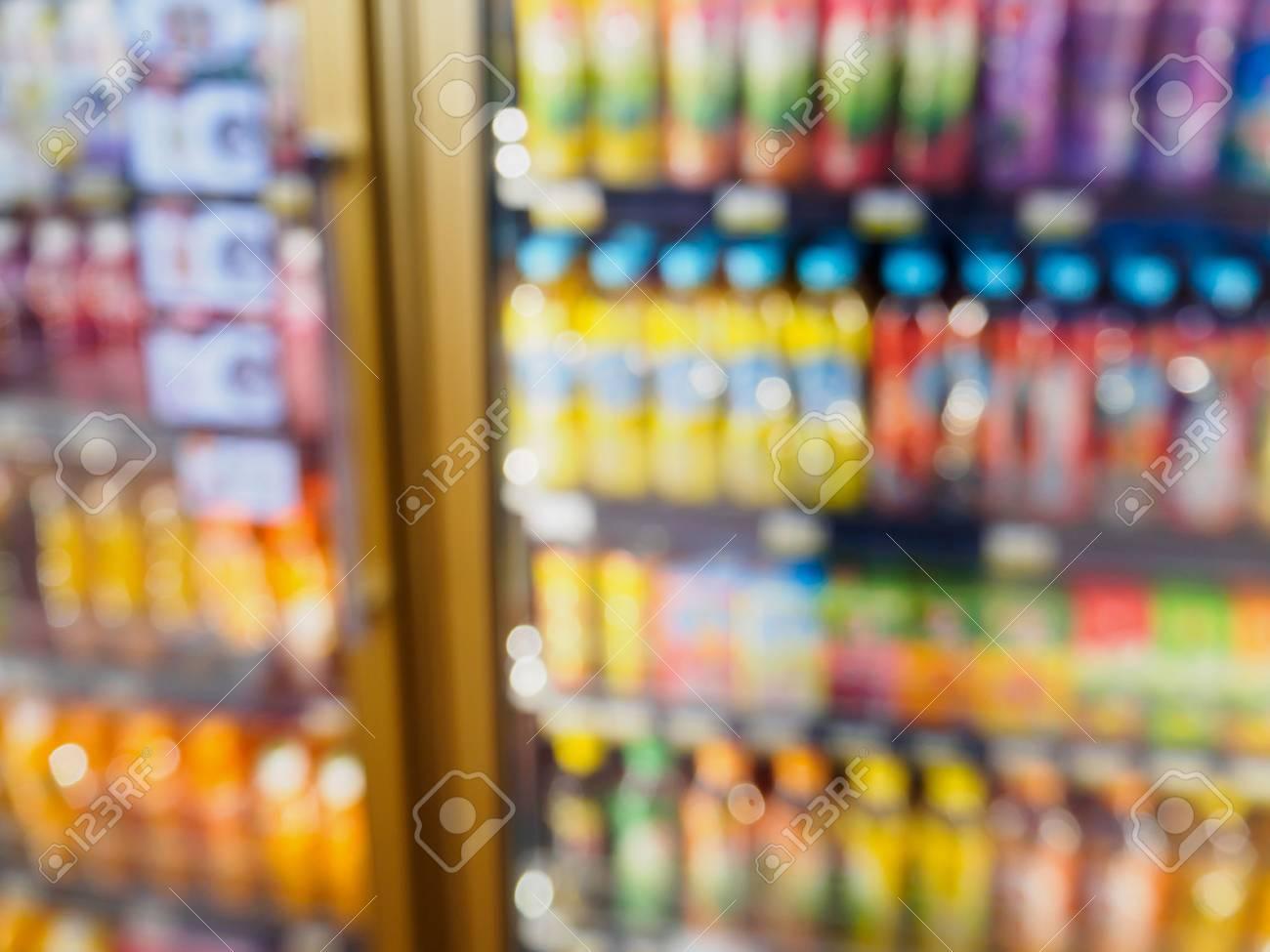 Supermarkt Kühlschrank Regale Mit Getränken Getränkeprodukte ...