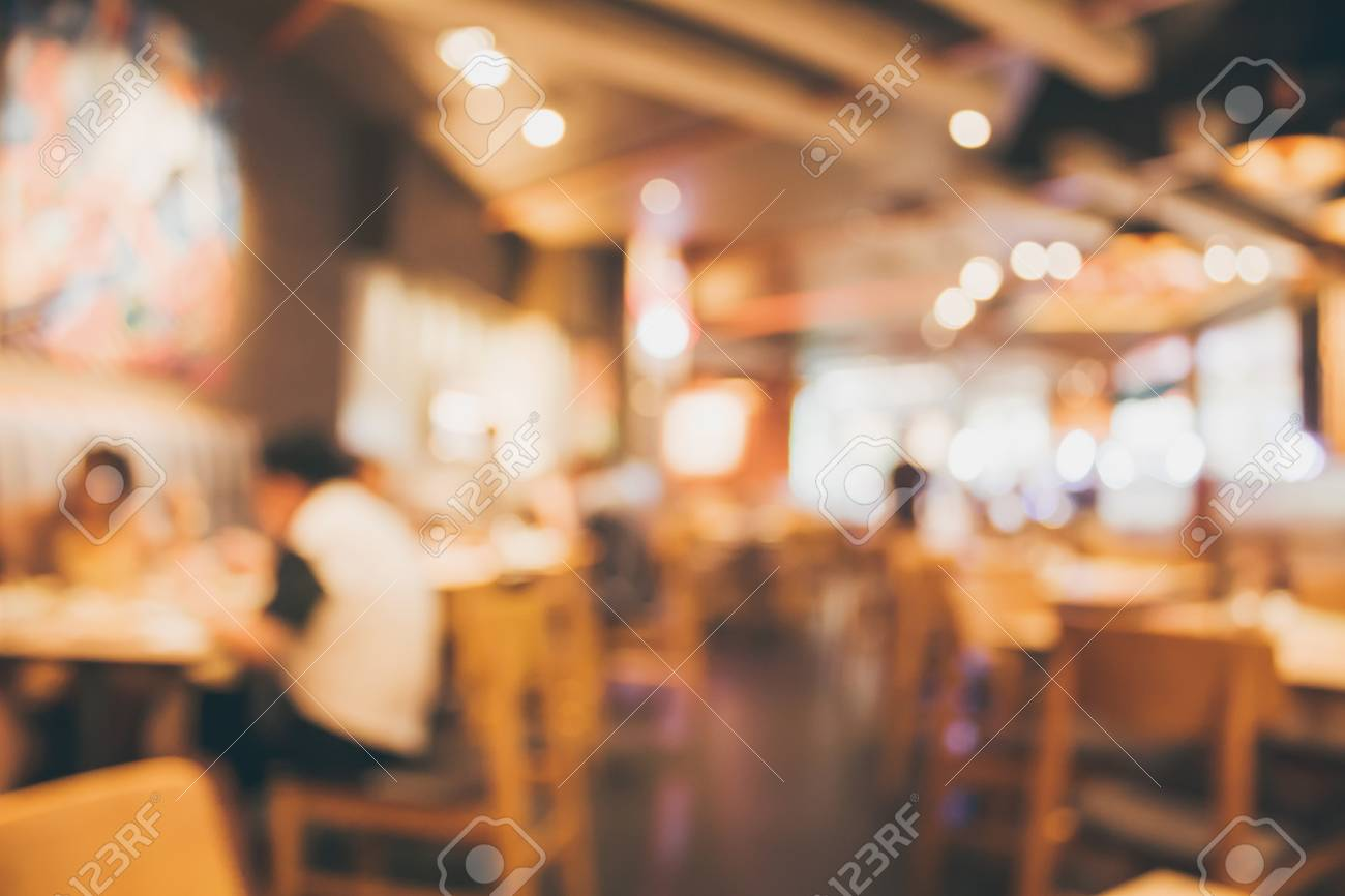 Restaurant Cafe Or Coffee Shop Interior With People Abstract Stock Photo Picture And Royalty Free Image Image 95204842
