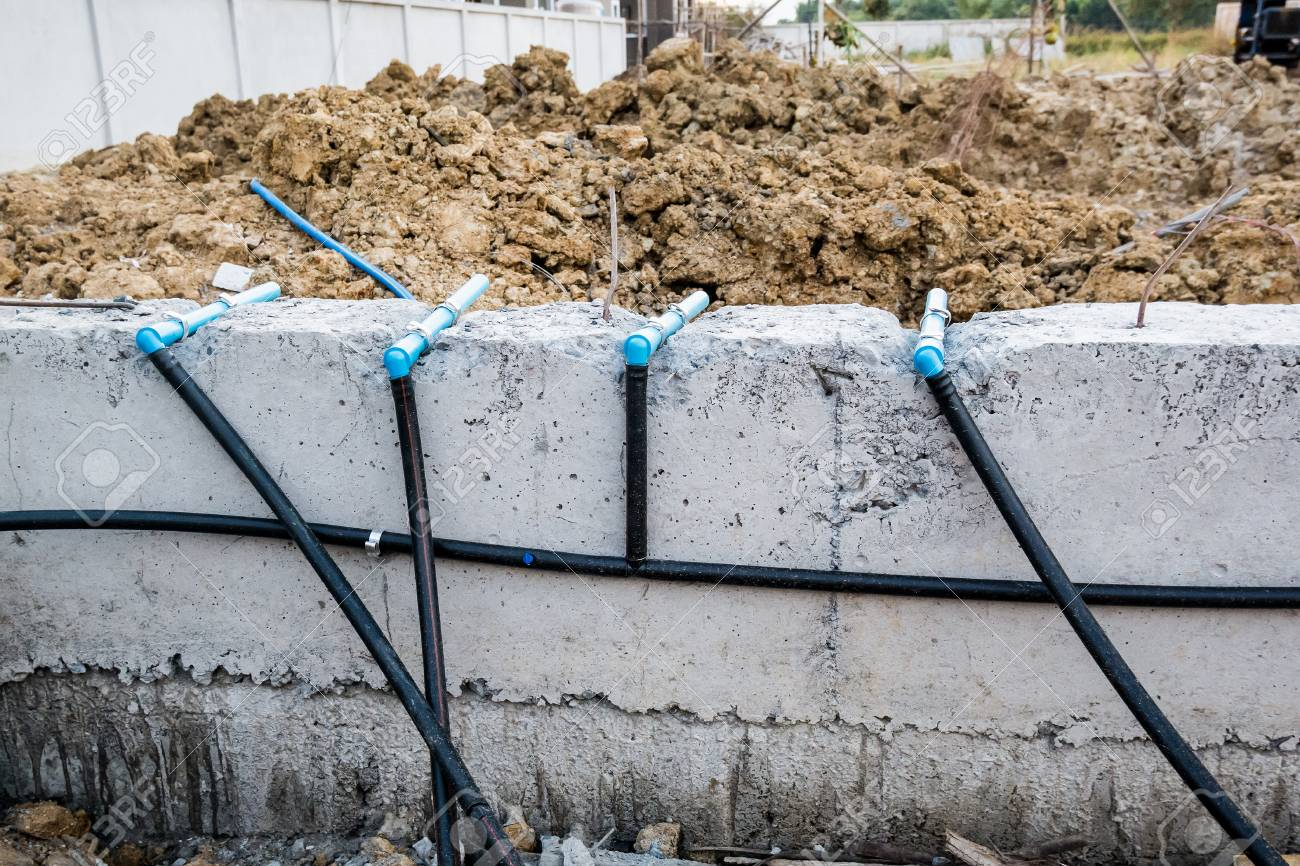 Pest Control Pipe System Install At New House Construction Foundation Stock Photo Picture And Royalty Free Image Image 95763181