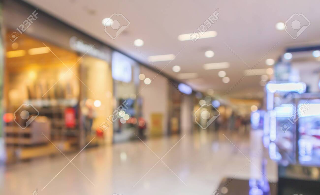 Abstract blur modern shopping mall interior defocused background - 120500403