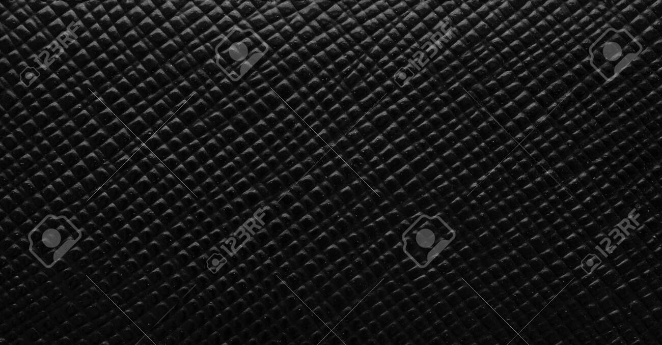 Luxury black leather texture surface background - 152939948
