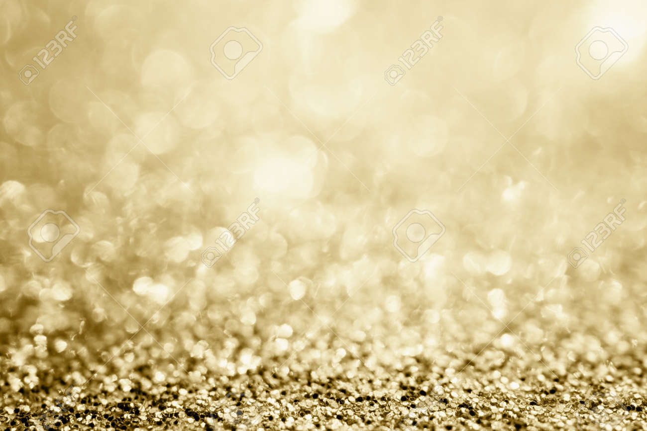 Abstract gold glitter sparkle blurred with bokeh background - 158979890
