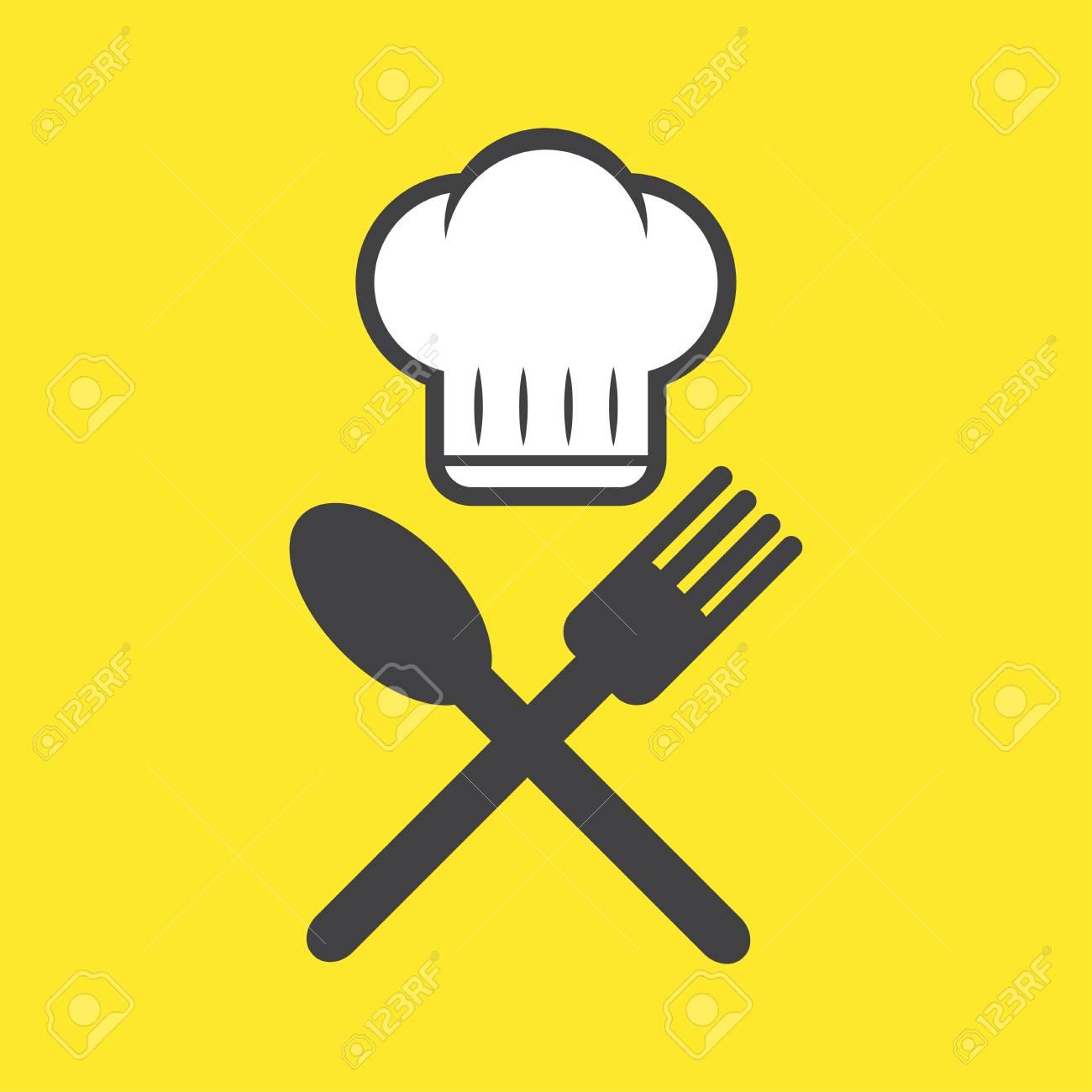 Koch, Koch, Kochen, Restaurant-Symbol, Logo. Vektor-Illustration. Küche, Küche Design-Konzept.