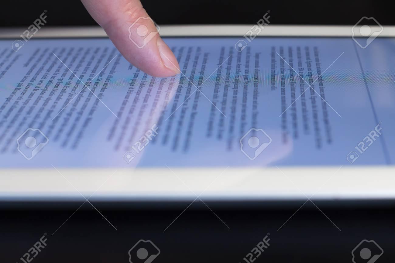 Enjoyable Closeup Mans Finger Scroll Touching Tablet Touchscreen Download Free Architecture Designs Rallybritishbridgeorg