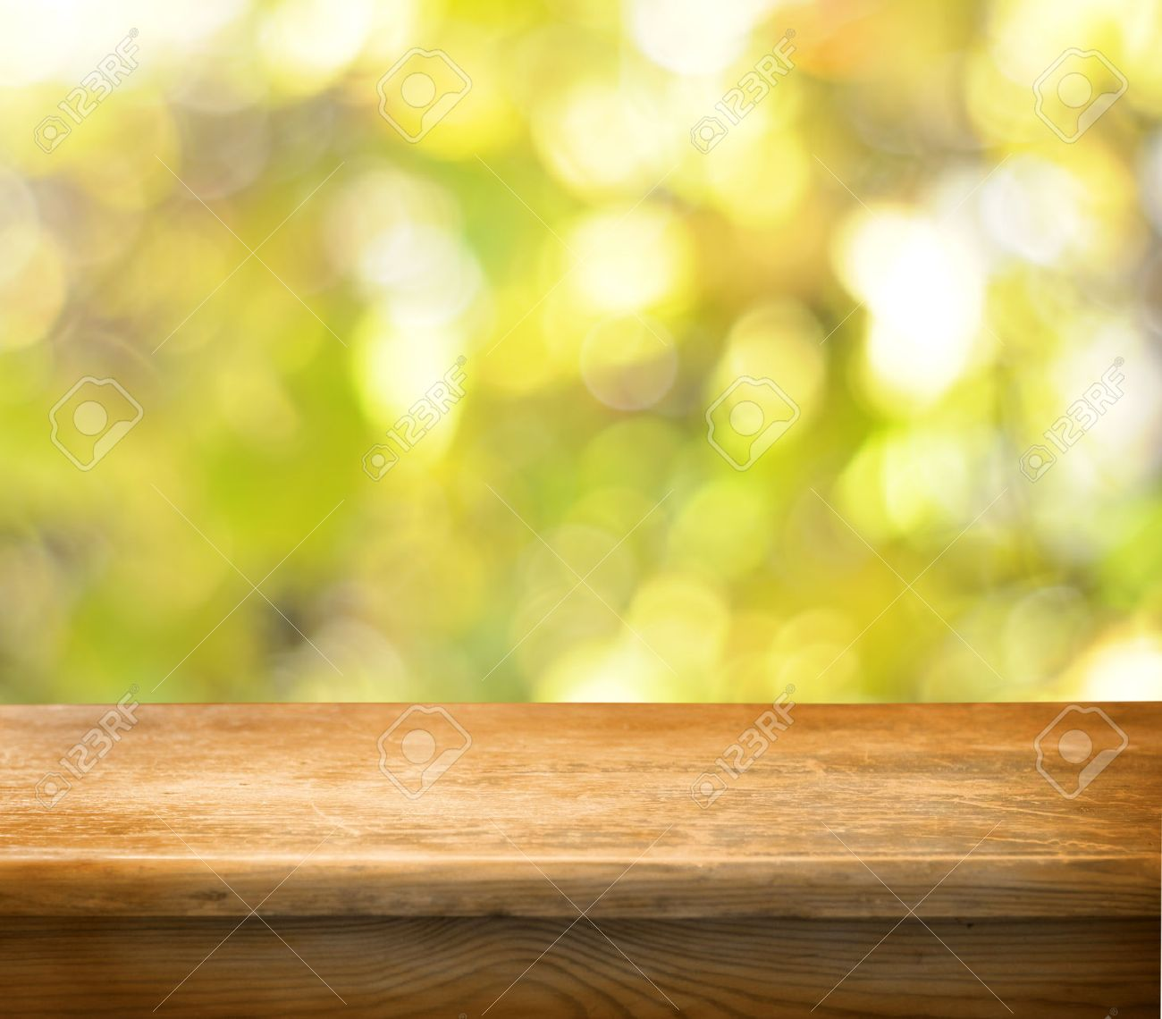 Empty wooden table and autumn background Stock Photo - 22198249