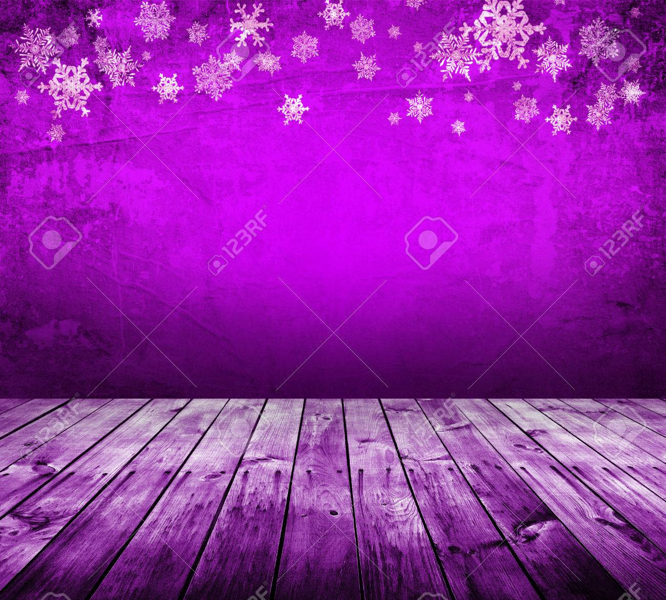 purple christmas background with snowflakes stock photo picture and