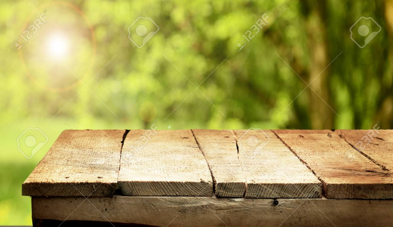 Wooden Table Background Stock Photo, Picture And Royalty Free Image