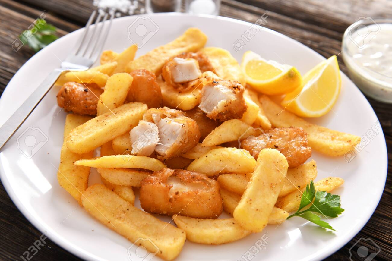 Fish and chips - traditional english fast food - 120064729