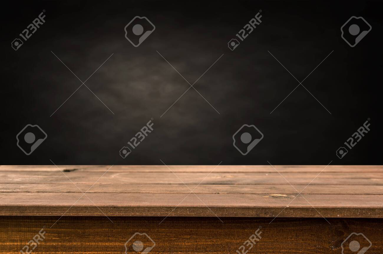 Empty wooden table background - 120065350