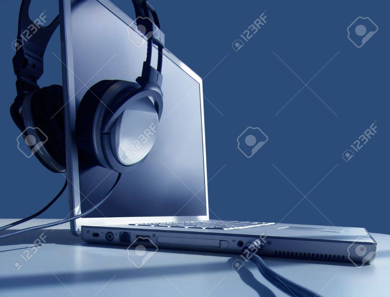 Headphones on Laptop Stock Photo - 230237