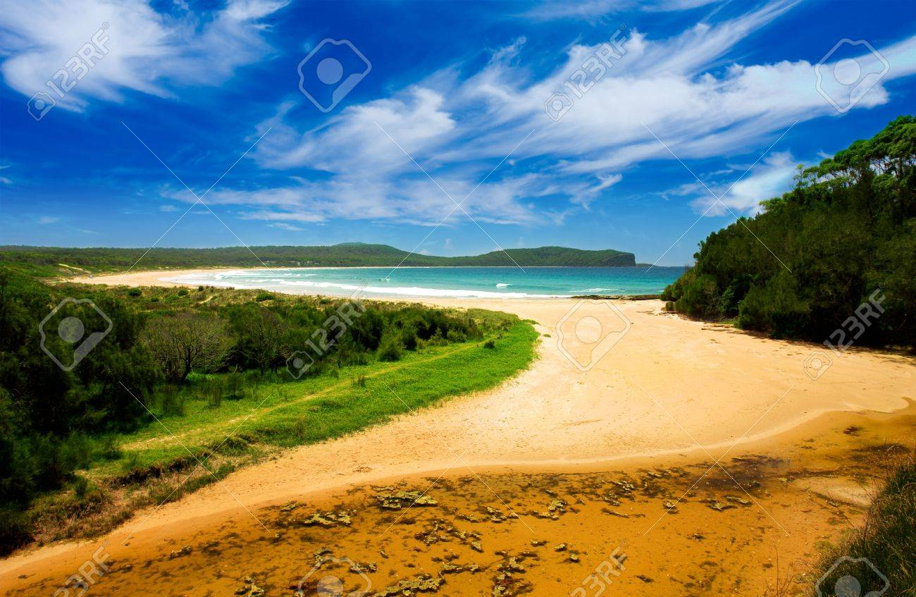 Colourful Beach Scene Stock Photo - 2677038