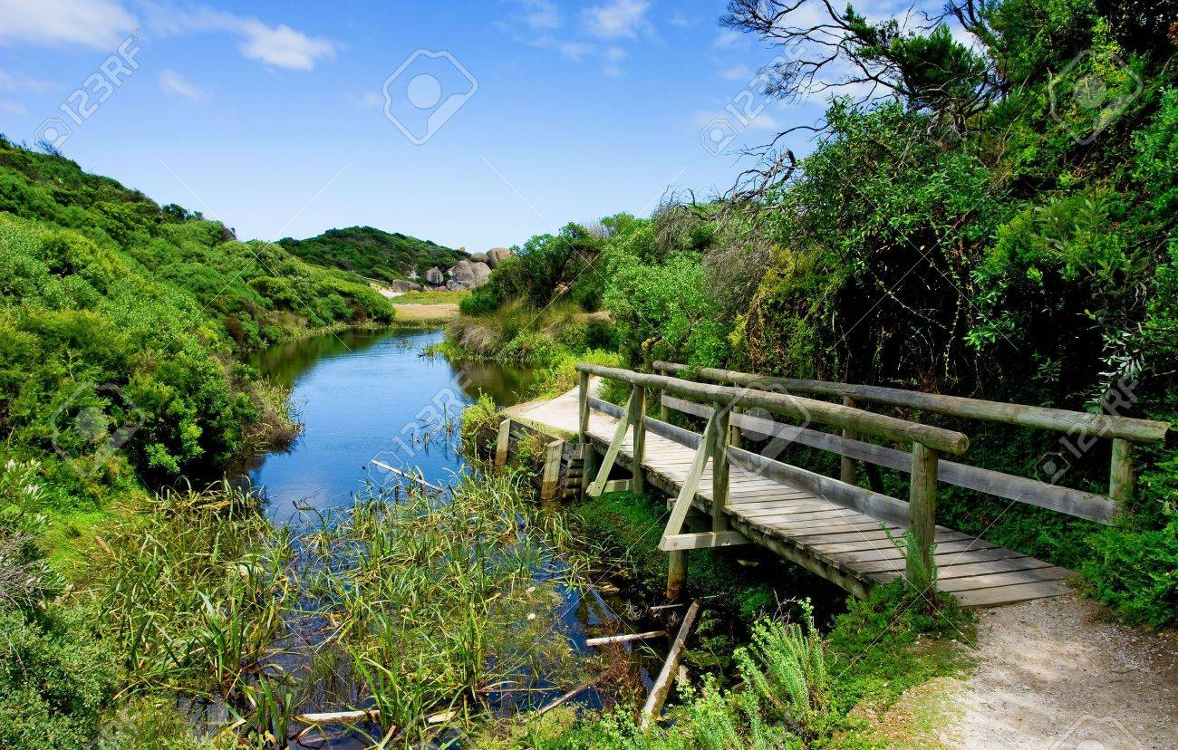 River leading to the sea in Wilsons Promontory Stock Photo - 2840196