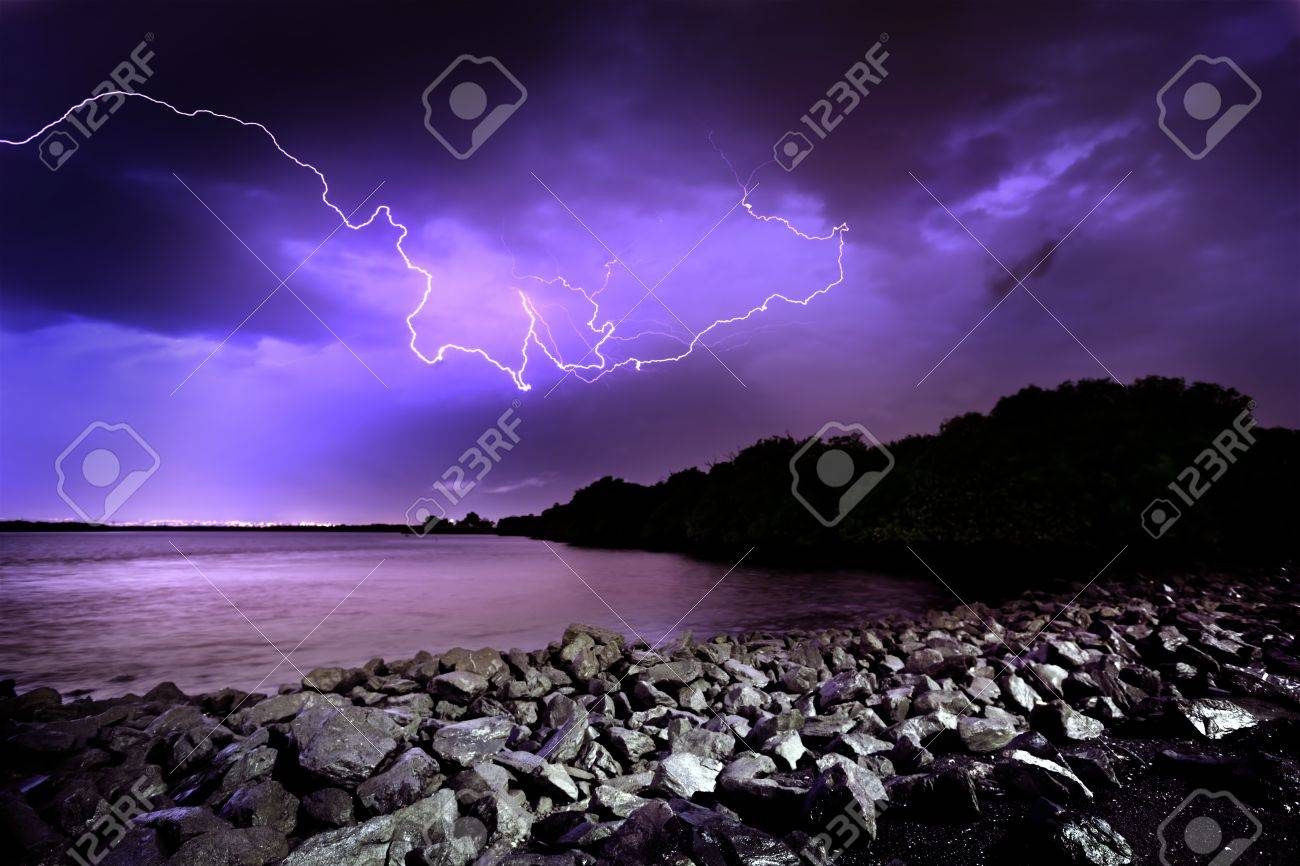 Lightning Storm in Adelaide, South Australia Stock Photo - 9544990