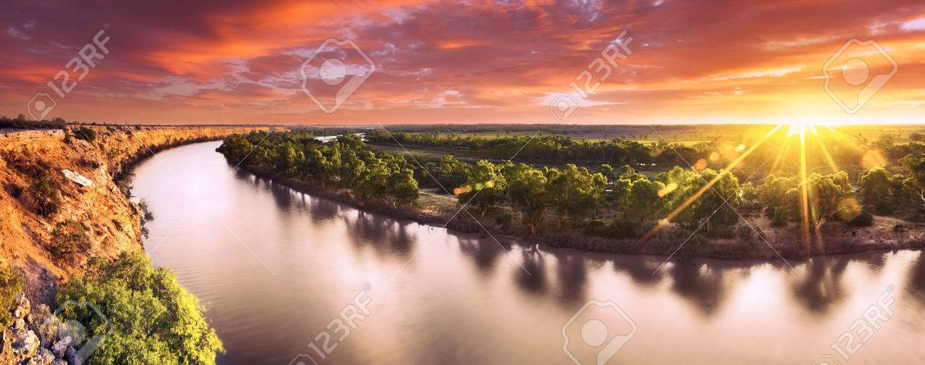 Sunset on the Murray River, South Australia - 31427148