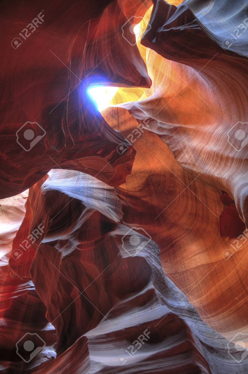 Famous Antelope Canyon in Page City Arizona Stock Photo - 10467066