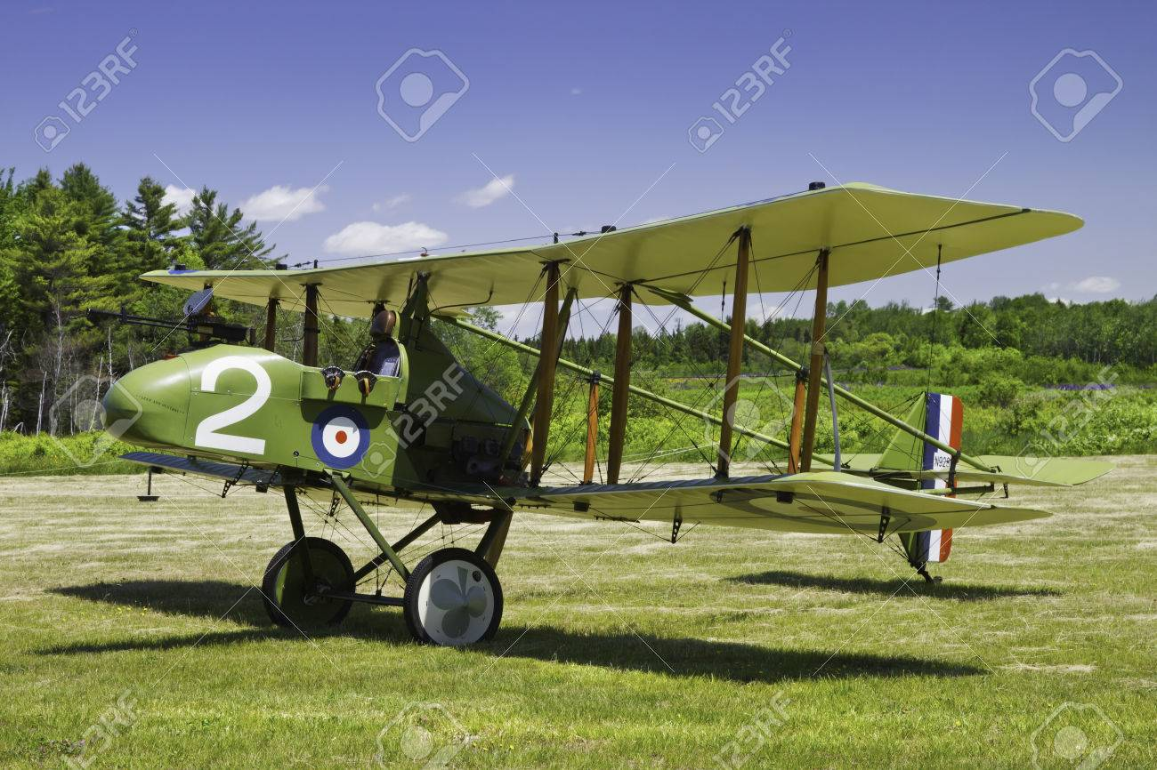 1916 Royal Aircraft F E 8 world war one era antique airplane
