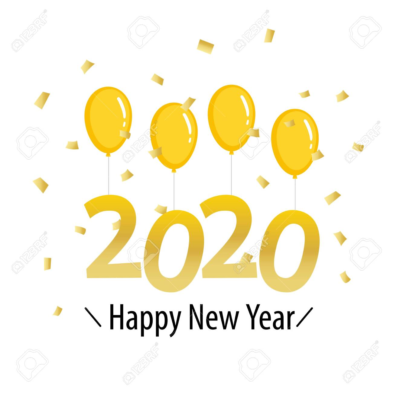 Happy New Year Orange 91
