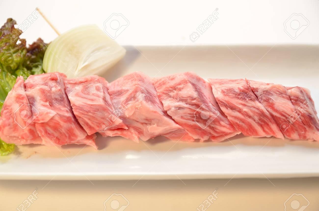 Japanese beef yakiniku Stock Photo - 15365213