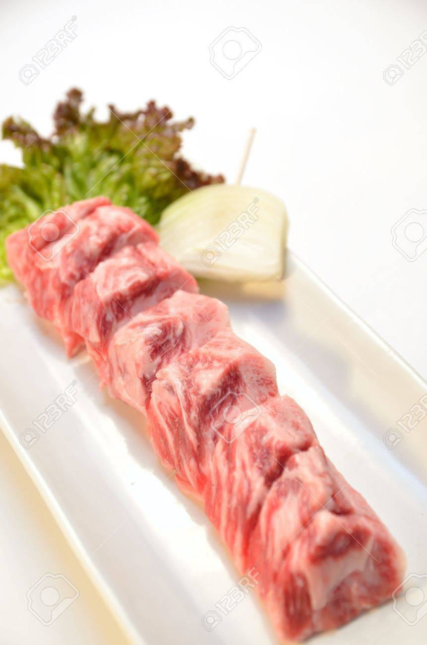 Japanese beef yakiniku Stock Photo - 15365214
