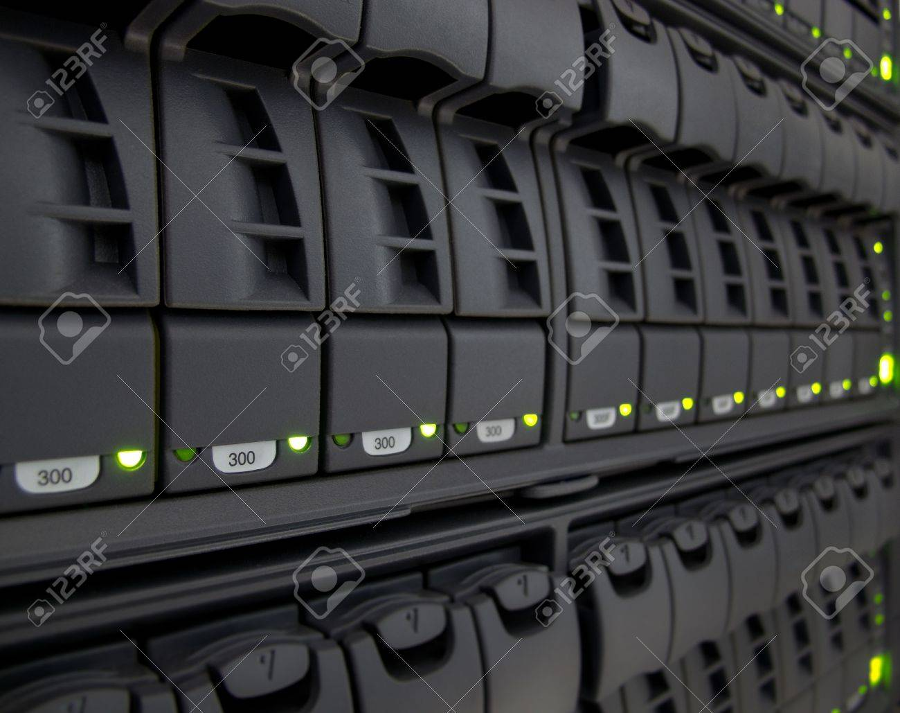 modern corporate information storage system in new datacenter Stock Photo - 14854082
