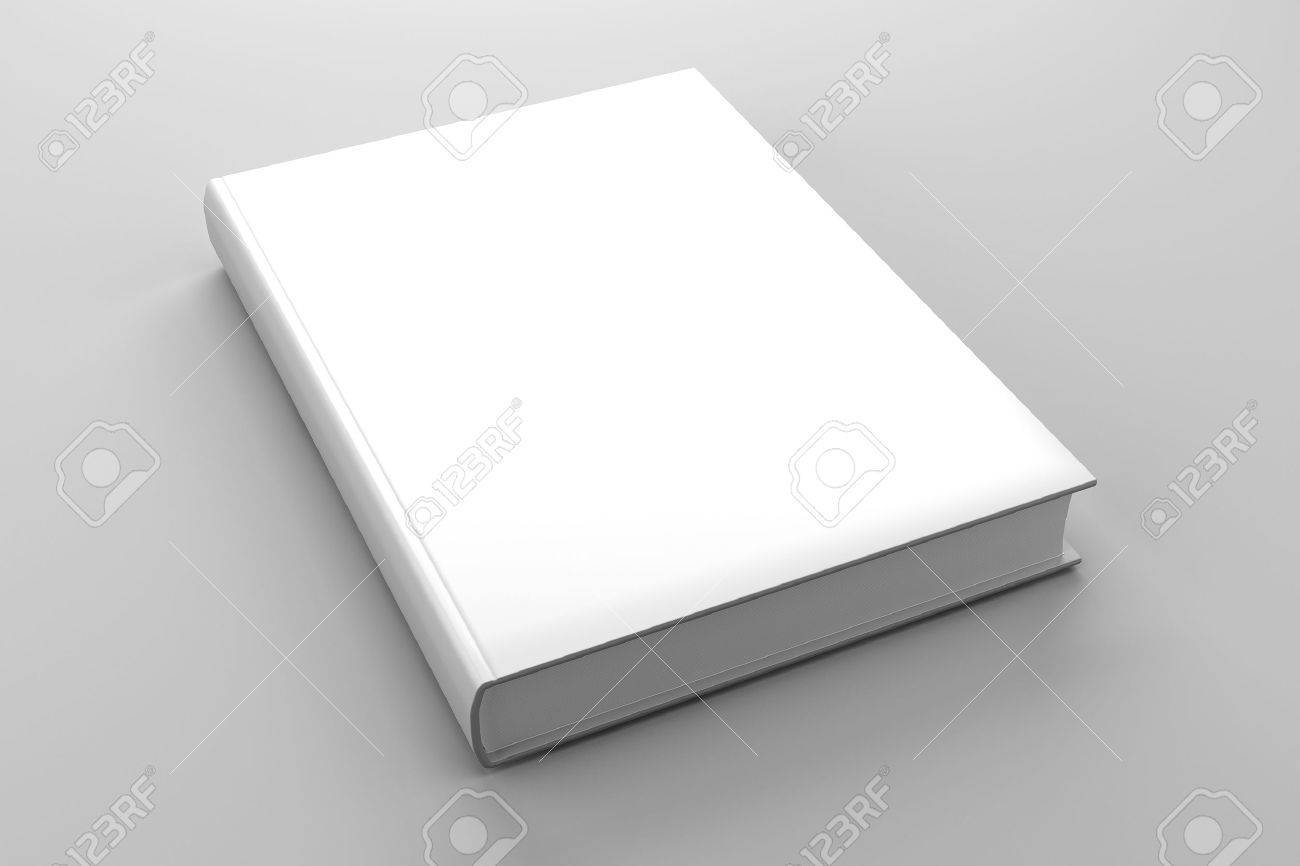 Blank book cover white isolated Stock Photo - 13646351