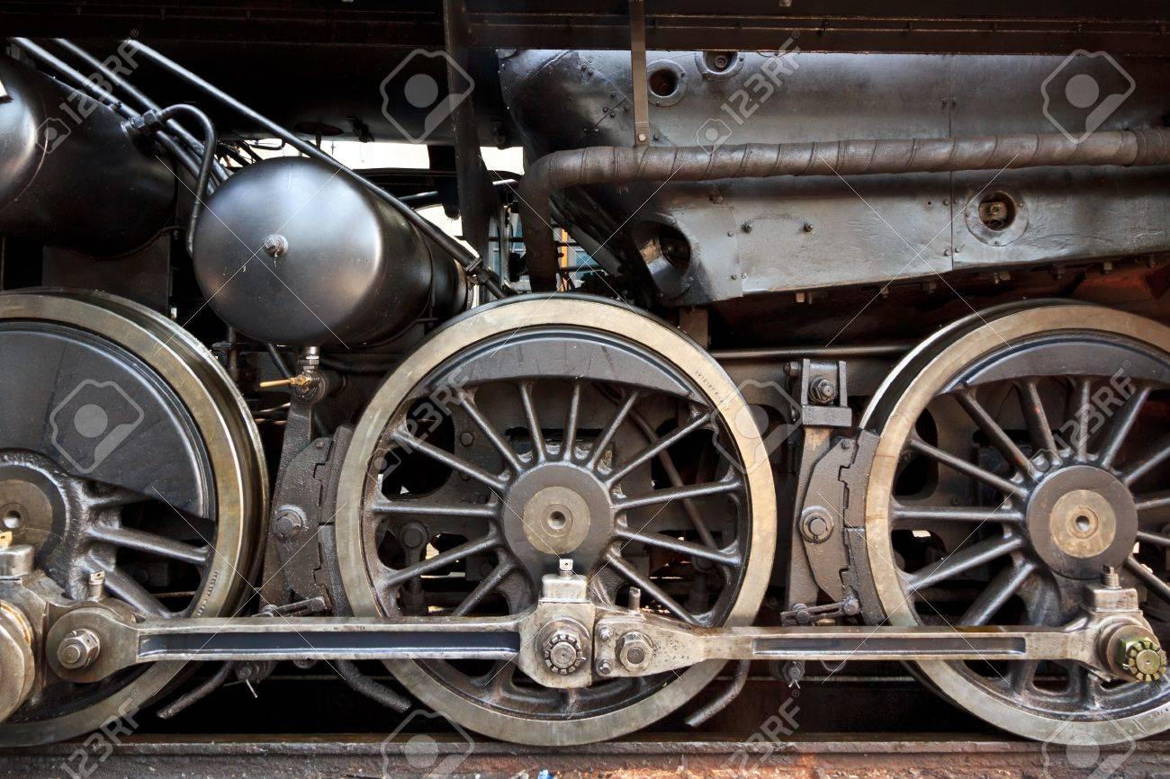 An old steam locomotive in a garage in Austria Stock Photo - 13902080