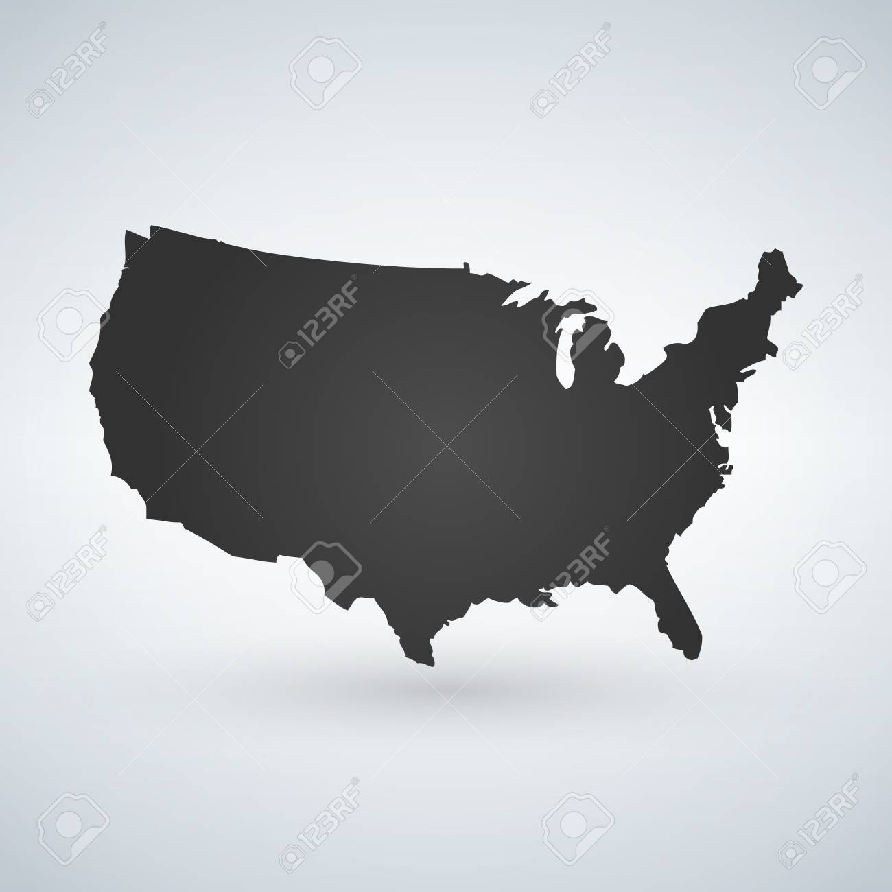 US Logo Or Icon With USA Letters Across The Map, United States ...
