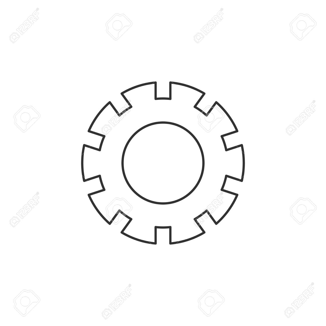 Settings icon wheel, cog, cogwheel icon  Vector illustration