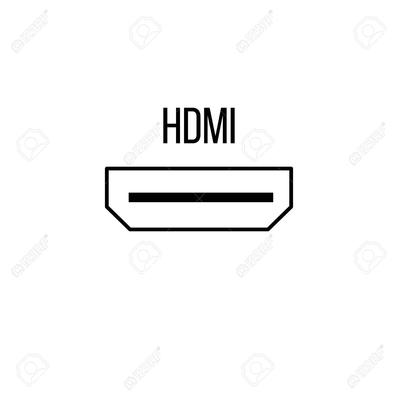 hdmi icon from electronic devices collection line vector sign royalty free cliparts vectors and stock illustration image 141871676 hdmi icon from electronic devices collection line vector sign