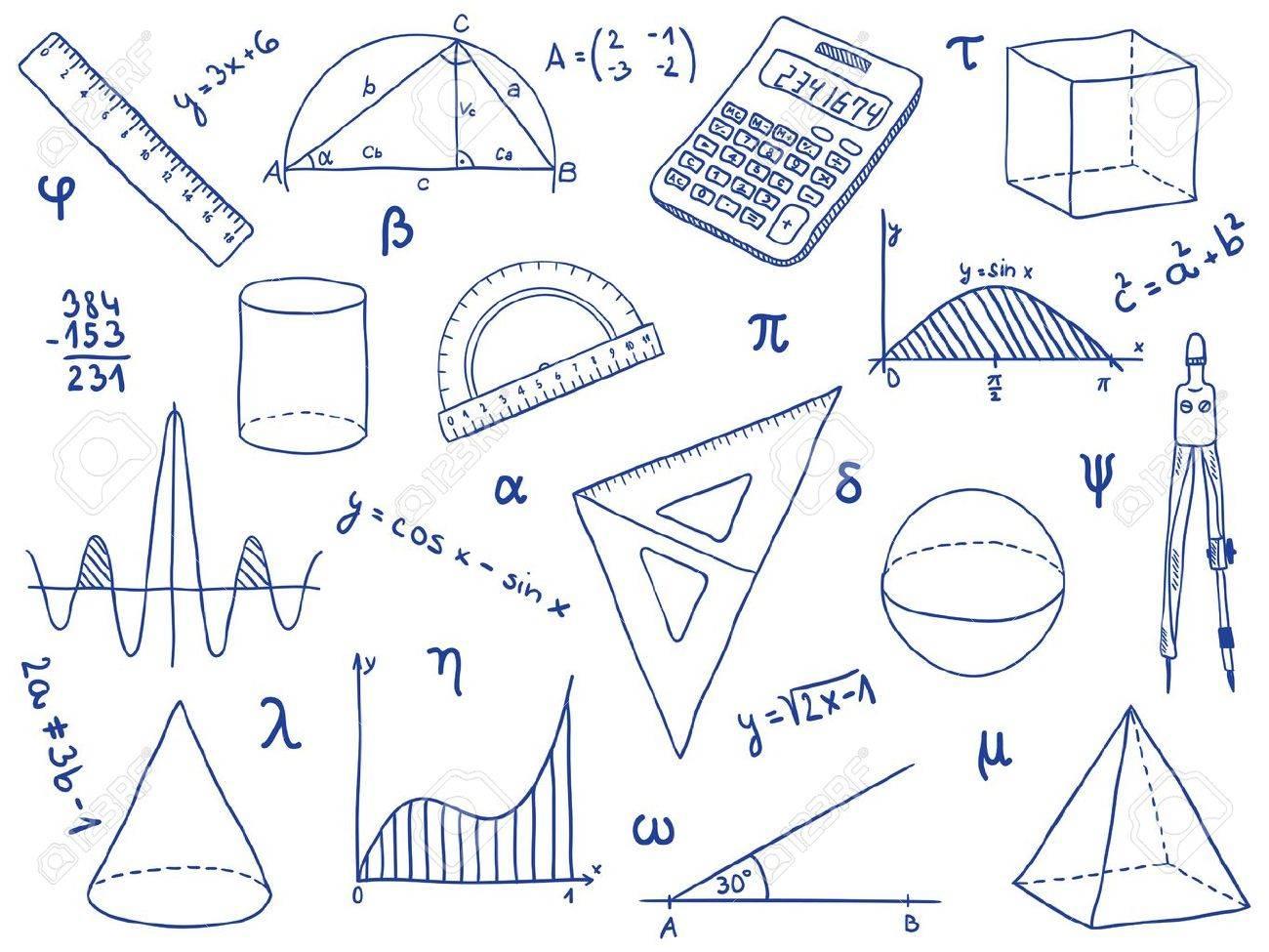 写真素材 , 幾何学的図形と式数学 , 学校のイラストを提供します。
