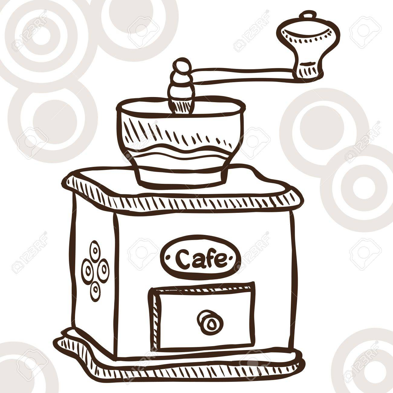 Illustration of retro coffee mill - doodle style Stock Vector - 14804013