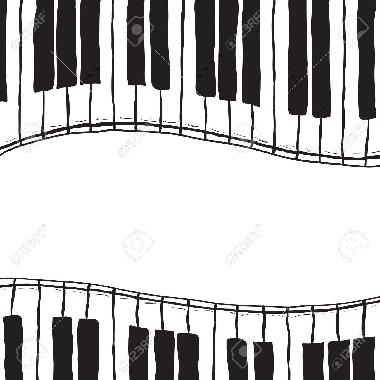 Illustration of piano keys - hand drawn style Stock Vector - 15130818