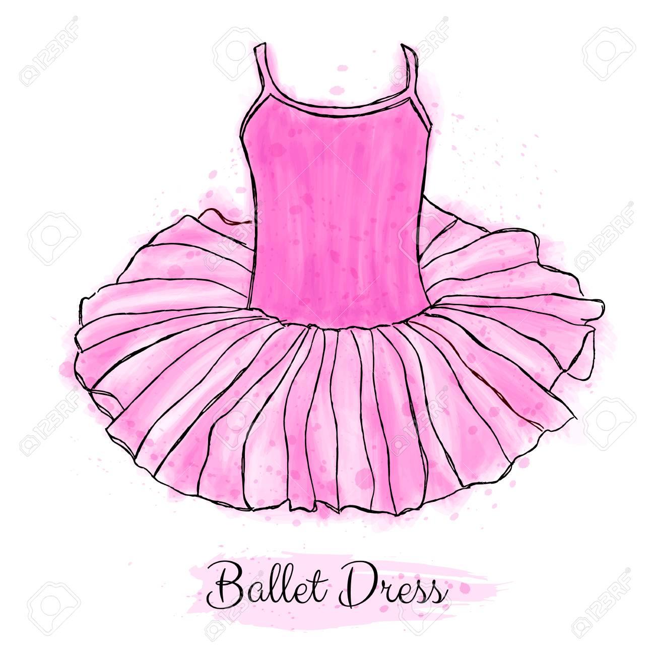 Vestido Rosa Tutú Bailarina. Vestido De Baile De Ballet Clásico ...