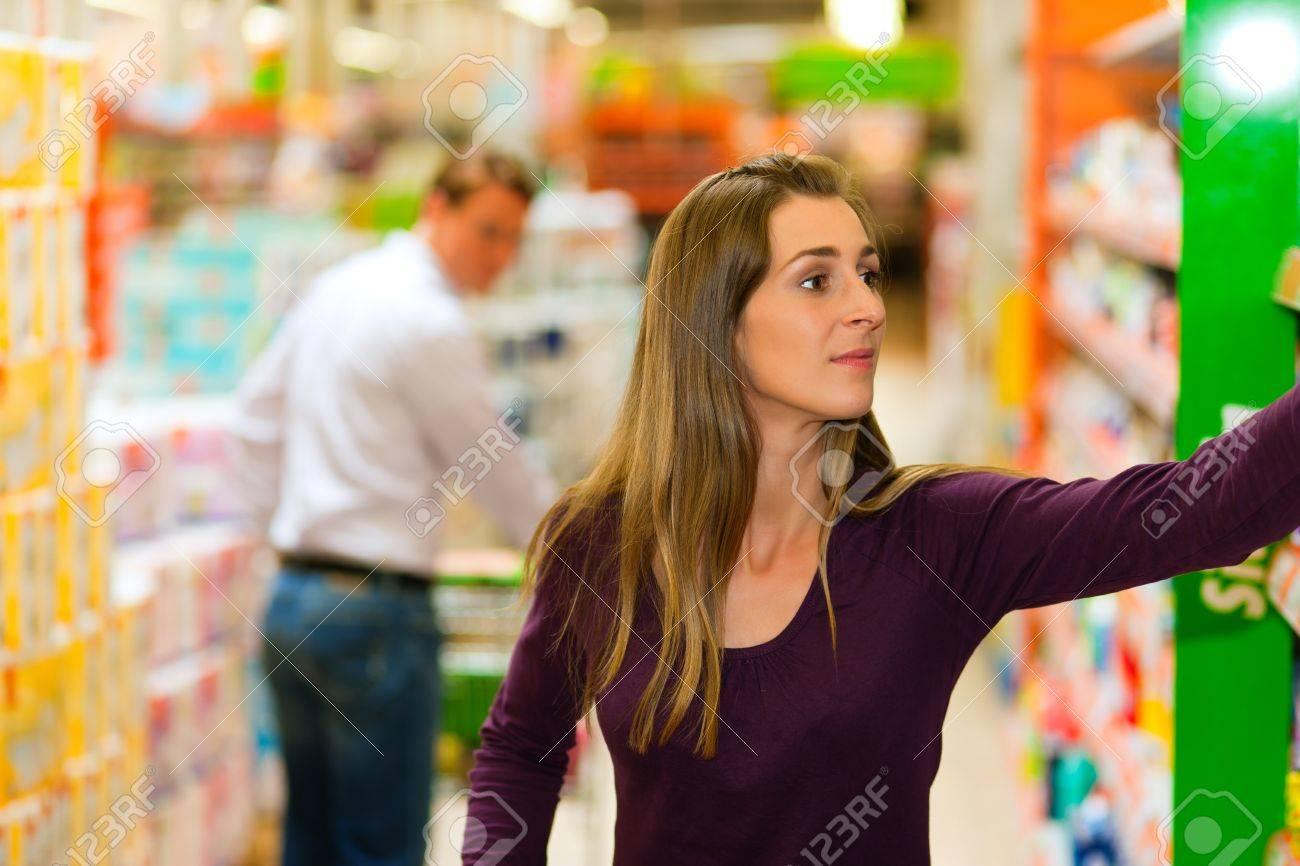 rencontre au supermarché
