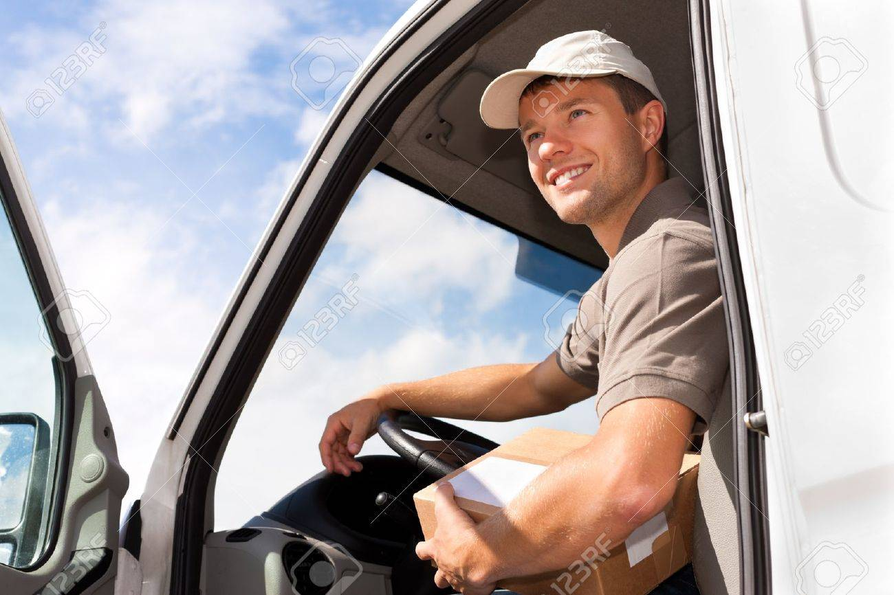 Postal service - delivery of a package through a delivery service Stock Photo - 10718116