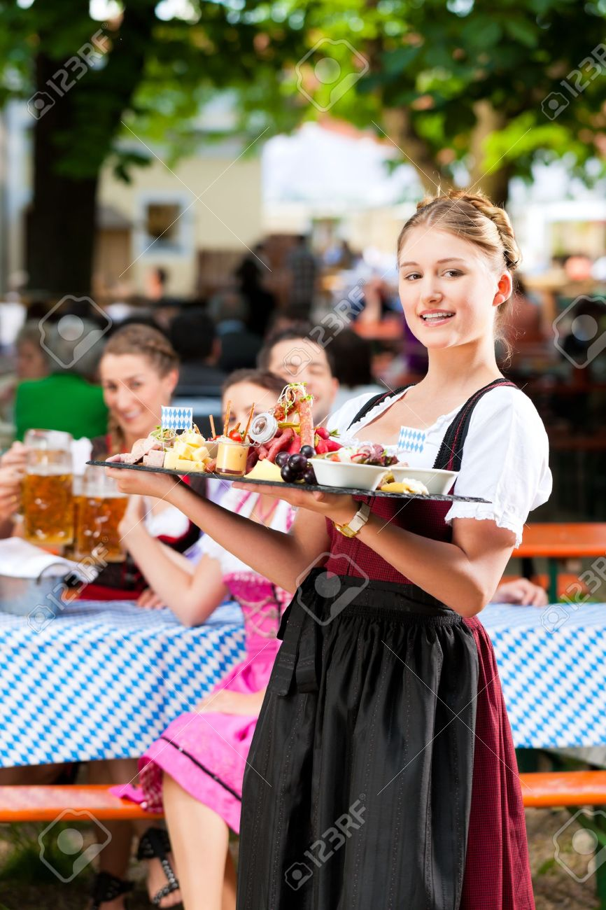 Beer Garden Restaurant In Bavaria Germany Beer And Snacks Stock Photo Picture And Royalty Free Image Image 13190413
