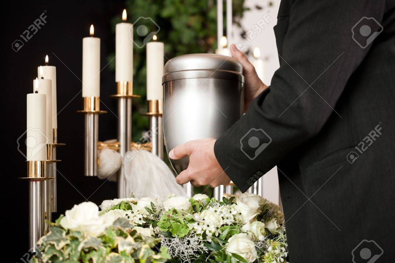 Death And Dolor Funeral And Cemetery Mortician Carrying The
